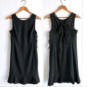 NWT Calvin Klein Black Mini Dress Flounce Hem